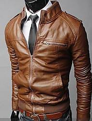 Men's Coats & Jackets , PU Casual Langdeng