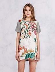 Impression mixte Knit T-shirt à manches courtes Vivi Roger femmes (écran couleur)