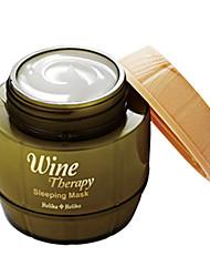 [Holika Holika] Wine Therapy Sleeping Pack 120ml(Moisturizing, Wrinkle Care, Whitening)  White Wine (Whitening)