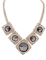 Anan Europe And The United States Street Snap Big-Name Costly Necklace(Black)