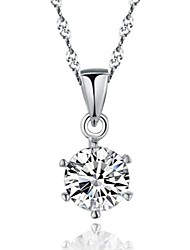 Women's Sterling Silver Pendant Necklace Korean Version Of the Popular New Female Platinum-Plated