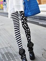estrella y de la raya polainas de impresión de la moda característicos de las mujeres