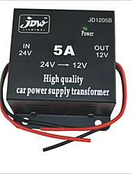 JD1205 DC 24V to 12V Car Power Supply Converter - Black