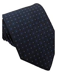 Moda Masculina Itália Estilo manta azul Royal Navy Dot Negócios Lazer Microfibra gravata