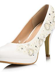 Boda Tacón de aguja Tacones talón de las mujeres de piel sintética Bombas / zapatos de tacón con el Rhinestone Zapatos