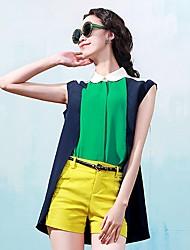 Women's Casual Shirts , Cotton OMZ