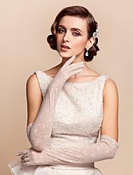 rendas e algodão luvas de noiva (mais cores disponíveis)