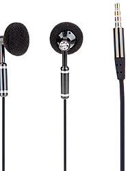 3.5mm Plug In-ear Earphone with Volume Control for Cell Phone (Black)
