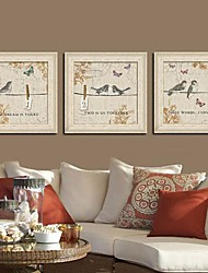 Animal Framed Canvas / Framed Set Wall Art,PVC Beige No Mat With Frame Wall Art