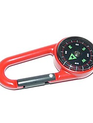 Outdoor Portable Zinc Alloy Compass - Red