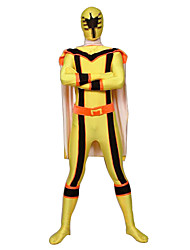 Cosplay Costumes Power Rangers / Soldier/Warrior Movie Cosplay Black / Yellow / Orange Patchwork Leotard/OnesieHalloween / Christmas /