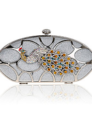 Черт побери Женская Высший сорт Мода Павлин вечерняя сумочка сцепления (серебро)