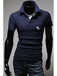 Tizeland Мужская Основные Короткие рукава Поло T-Shirt 1055
