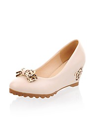 Patent Leder Damen Keilabsatz Wedges Pumps / Absatz-Schuhe (weitere Farben)