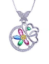 pulsera de cristal de plata colorido relámpago 925 yb800b