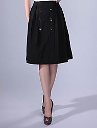 Cerel Casual abotonado completo falda falda de Midi