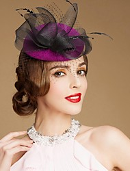 Women's Flower Girl's Wool Headpiece-Wedding Special Occasion Casual Outdoor Fascinators Hats