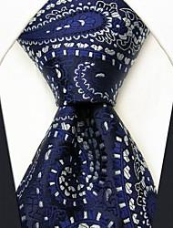 Bleu de visite floral de cravate en soie Imprimer des hommes