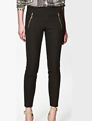 Double Side Zipper Pieds mince Pants Pantalon