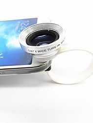 2 en 1 universal C Estilo clip 0.67X Gran Angular Add-On Lentes con Macro para iPhone / Celulares