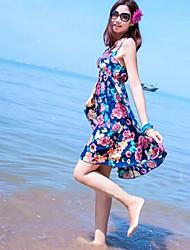 Women's Floral Tape Above knee Beach Dress