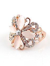 Kayshine Women's Elegant Cut Out Flower Pattern Ring