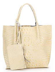 SCIDACA Women's Simple Elegant Solid Color Leather Tote(117 Yellow)