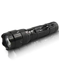 Hunteeseyes S502B-2-0-1 5-Mode Cree XP-E R2 LED Lanterna com Clip (250ml, 1x18650) Black