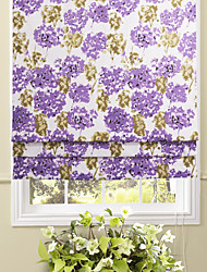 Country Elegant Blooming Lavender Roman Shade
