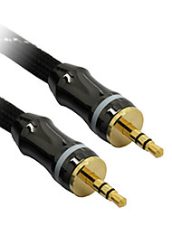 C-Kabel 3,5-mm-AUX-M / M-Audio-Kabel Schwarz Netto-plattiert (8M)