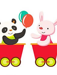 Panda e Coelho Train Corriage Wall Stickers