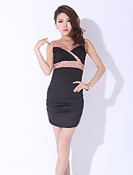 Women's Black/Blue/Red/White Dress , Bodycon Long Sleeve