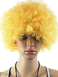 Black Afro Wig Fans Bulkness Cosplay Christmas Halloween Wig Golden blond Wig 1pc/lot