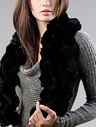Rex Rabbit Fur Party/Casual Scarves(More Colors)
