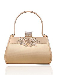 Women's Gold evening bag bride bag made ​​of hard stereotypes golden diamond handbag (lining color on random)