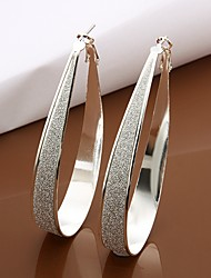 Meles 925 Silver Circle Earrings