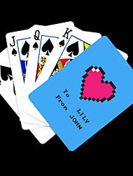 Motif bleu cadeau personnalisé de coeur carte de jeu pour Poker