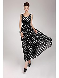 Women's Multi-color Dress , Beach Sleeveless