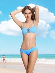Cielo de la Mujer VBM Blue Diamond Crystal Bandeau bikini traje más sexy Secret Natación Trajes de Biquini