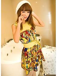 Women's Cute Round Collar Vest Dress