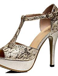 Guciheaven Женские Кореи Sexy стилет каблук обувь (золото)