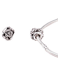 цветок сплава мутовчатыми большая дыра поделок бусины для ожерелья или браслета