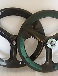 """Tri Yanbo 20 """"BMX habló las ruedas del carbón del remachador de 50m m para la pista de la bici / de la rueda delantera de la bicicleta (1 pieza)"""