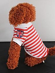 T-shirt Jack Listrado União Nova britânico para Pet Dogs (Assorted Size)