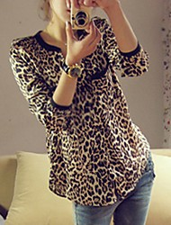 Women's Leopard Print Loose Blouse