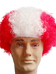 Black Afro Wig Fans Bulkness Cosplay Christmas Halloween Wig Austria Flag Wig 1pc/lot