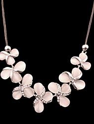 Ruisha Fashion European Style elegante Blumen-Design Edelstein-Halsketten-Schlüsselbein (Screen Color)