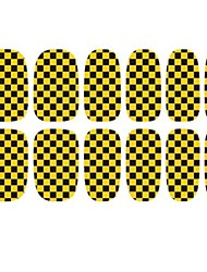 2014 Mais Popular de Ouro Preto E Blided Glitter Nail Art patches adesivos 3D