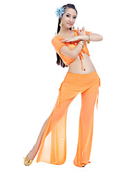 Belly Dance Sexy Ruffle Top & Bottom Outfits Nylon & Spandex More Colors For Women