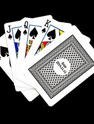 Presente personalizado cinza padrão de verificação do cartão de jogo para Poker